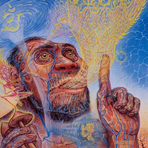 Rola psylocybiny w ewolucji człowieka